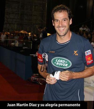 Torneo tecnópolis, Juan Martin Diaz sonriendo
