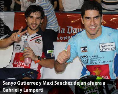 Sanyo Gutierrez y Maxi Sanchez eliminan a Gabriel y Lamperti