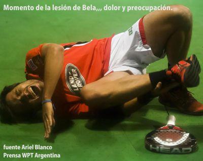Preocupante lesión de Fernando Belasteguin