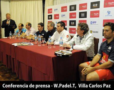 conferencia de prensa en Villa Carlos Paz - torneo WPT