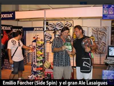 Forcher con Lasaigues en stand Joma-Sidespin