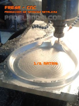 Matriz para paleta de padel en aluminio hecha en fresa cnc